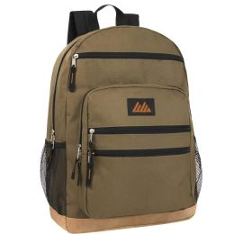 """24 Units of 18 Inch Backpack with Laptop Section- OLIVE GREEN - Backpacks 18"""" or Larger"""