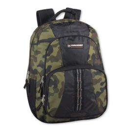 """24 Units of 18 Inch Camo Daisy Chain Backpack - Green - Backpacks 17"""""""