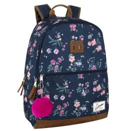 "24 Units of 18 Inch Suede Base Backpack - Girls - Backpacks 17"""
