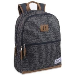 "24 Units of 18 Inch Suede Base Backpack - Grey - Backpacks 17"""