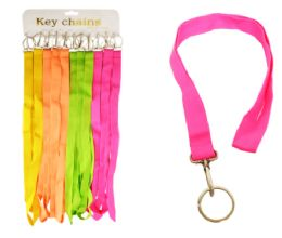 72 Units of Solid Color Lanyard Neon - Id card