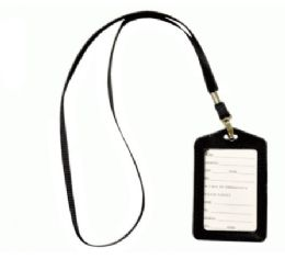 72 Units of Lanyard With ID Holder Vertical Black - Id card