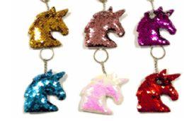 72 Units of Sequin Keychain Unicorn - Key Chains