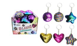 108 Units of Sequin Pillow Keychain - Key Chains