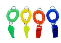 72 Units of Wristband Keychain With Whistle - Key Chains
