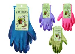 72 Units of Gardening Gloves Solid Color - Garden Cleanup Aids