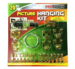 48 Units of Picture Hanging Kit 20 Piece - Hardware