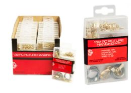 48 Units of Picture Hanging Kit 132 Piece - Hardware