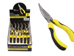 24 Units of Bent Nose Pliers Cushion Grip 5 Inch - Pliers