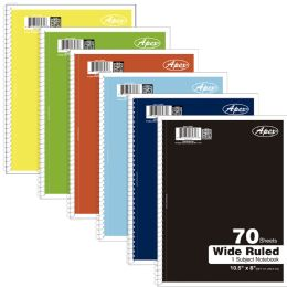 48 Units of Premium 1 Subject Wide Ruled Notebook, 70 Sheets - Notebooks