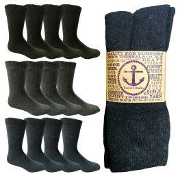 864 Units of Yacht & Smith Men's Winter Thermal Tube Socks Size 10-13 - Mens Thermal Sock
