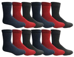 144 Units of Yacht & Smith Womens Wholesale Winter Thermal Crew Socks Size 9-11 - Womens Thermal Socks