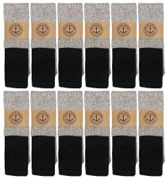 720 Units of Yacht & Smith Mens Cotton Thermal Tube Socks, Cold Weather Boot Sock Shoe Size 8-12 - Mens Thermal Sock