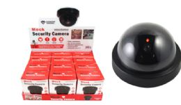 24 Units of Mock Security Camera With Flashing Light - Home Accessories
