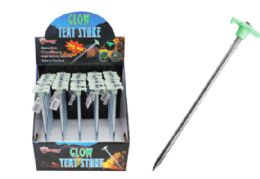 60 Units of Metal Tent Stake Glow In The Dark 11 Inch - Garden Decor