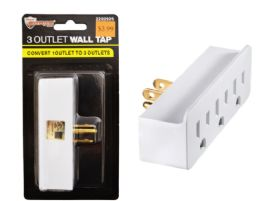 72 Units of 3 Outlet Wall Tap UL Listed - Electrical