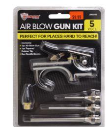 24 Units of Air Blow Gun Kit 5 Piece - Hardware Gear