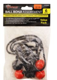 48 Units of Ball Bungee Cords 6 Pack - Bungee Cords