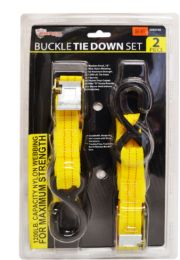 12 Units of Buckle Tie Downs 2 Piece - Bungee Cords