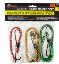48 Units of Bungee Cord 3 Piece - Bungee Cords