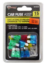 48 Units of Car Fuse Assortment 15 Piece - Auto Care