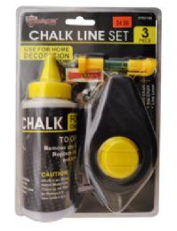 24 Units of Chalk Line Set 3 Piece - Hardware