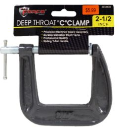 24 Units of Deep Throat C Clamp 2.5 Inch - Clamps