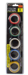48 Units of Electrical Tape 5 Piece Assorted Color - Tape & Tape Dispensers