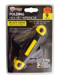 24 Units of Folding Hex Key Wrench 9 Piece - Hex Keys