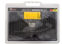 12 Units of Hex Key Set 25 Pieces - Hex Keys