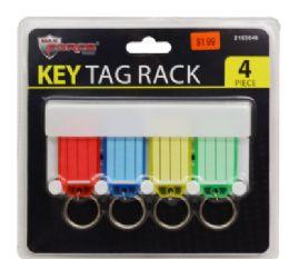 24 Units of Key Tag Rack 4 Piece - Key Chains