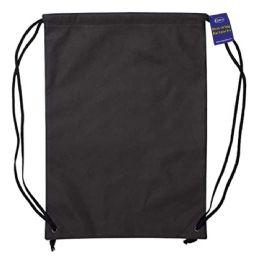 60 Units of Large-Size Lightweight Drawstring Backpacks - Black - Draw String & Sling Packs