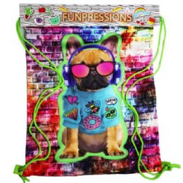 12 Units of Rad Bulldog Drawstring Backpack - Draw String & Sling Packs