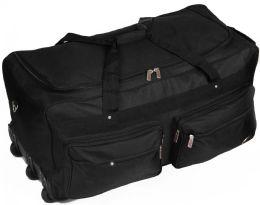 4 Units of Cargo Rollaboard Duffle Bags w/ Detachable External Compartments - Black - Duffel Bags