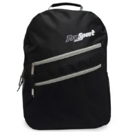 3 Units of Multi-pocket Front Zippers Backpack With Beverage Pocket In Assorted Colors - Draw String & Sling Packs