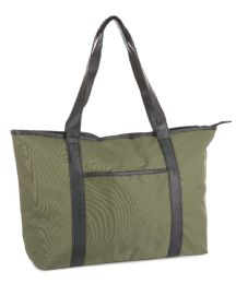 12 Units of Travel Tote Carry-On Bags - Olive - Travel & Luggage Items