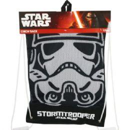 6 Units of Star Wars Storm Trooper Cinch Sack Drawstring Backpack - Draw String & Sling Packs