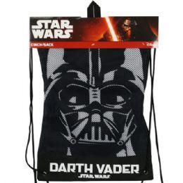 6 Units of Star Wars Darth Vader Cinch Sack Drawstring Backpack - Draw String & Sling Packs