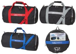 """24 Units of 24"""" Collapsible Duffle Bags (Converts to Pouch) - Duffel Bags"""