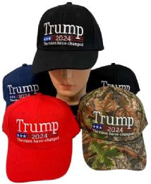 24 Units of Trump 2024 The Rules Have Changed - Baseball Caps & Snap Backs