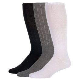 100 Units of Men's Tube Socks- 3 Color Assortment - Mens Crew Socks
