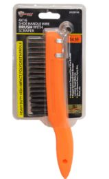 24 Units of Shoe Handle Wire Brush Orange - Tool Sets