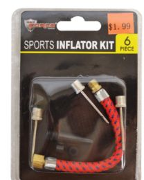 60 Units of Sports Inflator Kit 6 Piece - Pumps