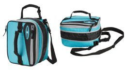 12 Units of 15'' Expandable Cooler Bags w/ Shoulder Strap - Blue - Cooler & Lunch Bags