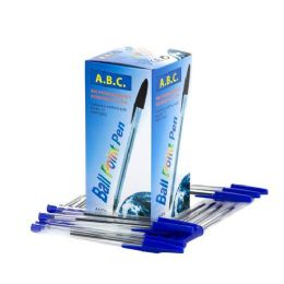 1000 Units of 50 Pack Blue Ball Point Pens- Blue - Pens