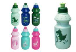 72 Units of Water Bottle Dino Unicorn - Drinking Water Bottle