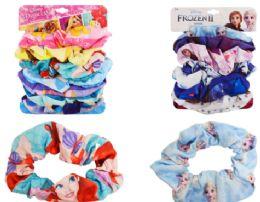 24 Units of Disney Hair Scrunchies 7 Pack - Hair Scrunchies