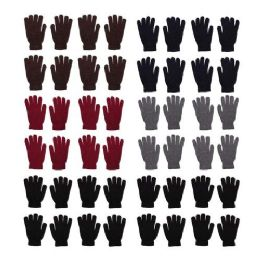 96 Units of 96 Pack - Wholesale Unisex Winter Gloves in 5 Assorted Colors - Winter Care Sets