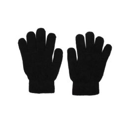 48 Units of Winter Gloves in Black - Cold Weather Case of 48 Glove Pairs - Winter Care Sets