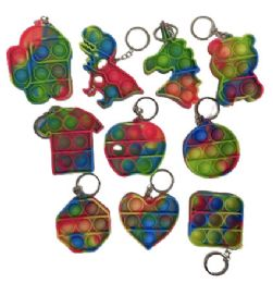 50 Units of Rainbow Assorted Keychain Set - Fidget Spinners